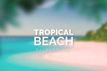 创意�:�热带沙滩风景矢量素材