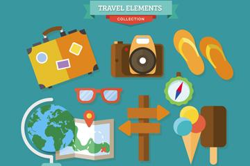 16款精致旅行图标矢量素材