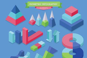 11款彩色立体信息图元素矢量图