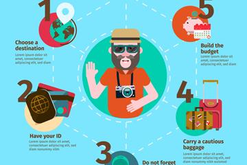 创意旅行男子信息图设计矢量素材