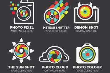 6款抽象照相机标志矢量素材