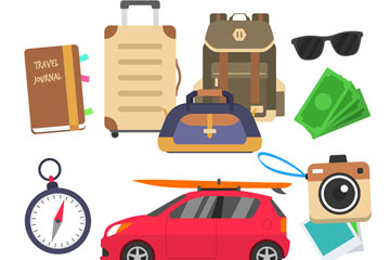 10款创意旅行元素矢量素材