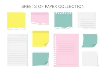 12款彩色扁平化纸张矢量素材