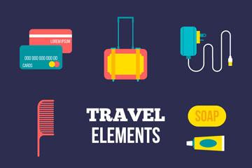 10款彩色旅行图标矢量素材