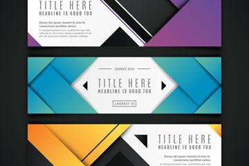 3款彩色商务banner设计矢量素材
