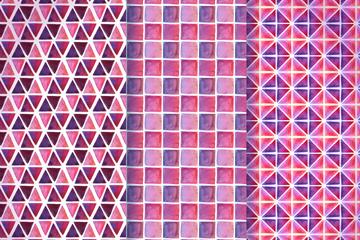 3款粉色花纹背景设计矢量素材