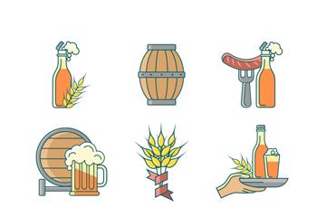 9款创意啤酒节元素矢量素材