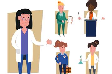 5款创意医务人员矢量素材