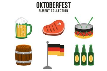 9款创意啤酒节图标矢量素材
