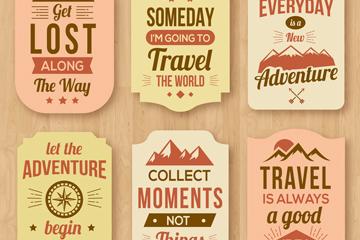 6款创意旅行话语标签矢量素材