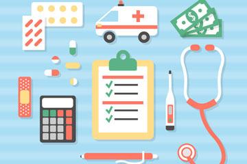 15款创意医疗保险元素矢量素材