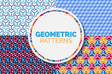 4款抽象几何形无缝背景最新网络赌博网站