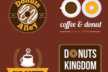 4款创意咖啡和甜品店标志矢量素