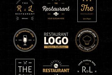 8款抽象餐厅标志设计矢量素材