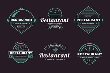 6款精致餐馆标志设计矢量素材