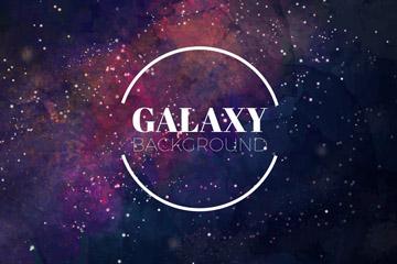 水彩绘星系背景矢量素材
