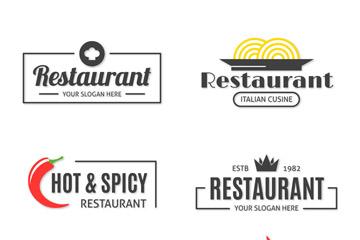 6款质感餐馆标志设计矢量素材