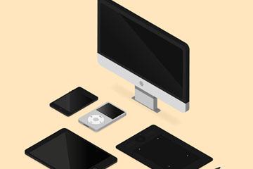 5款立体电子产品矢量素材