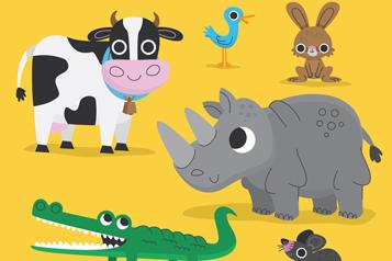6款可爱大眼睛动物设计矢量素材