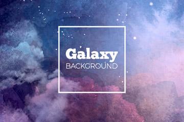 水彩绘星系背景设计矢量素材