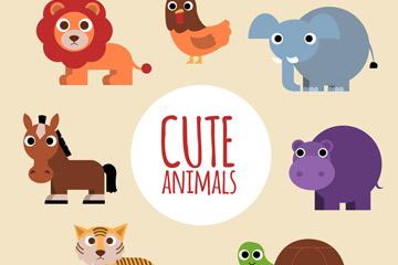 7款可爱大眼睛动物矢量素材