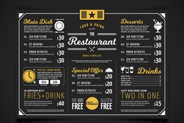 创意餐厅菜单矢量素材