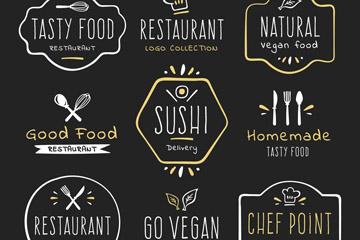 9款手绘餐馆标志设计矢量图