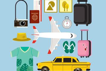 13款创意旅行元素矢量梦之城娱乐