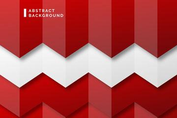 红白条纹质感曲线背景矢量素材