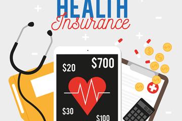创意医疗保险元素矢量梦之城娱乐