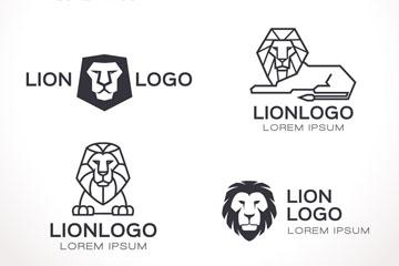 6款抽象狮子标志矢量素材