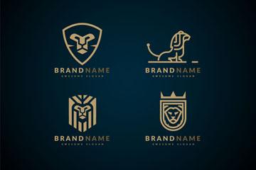 4款创意狮子商务标志矢量素材