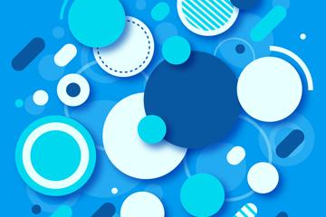 创意质感圆形背景矢量素材