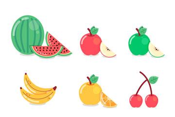 9款美味夏日水果设计矢量素材