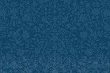 深蓝色复古花纹无缝背景矢量图