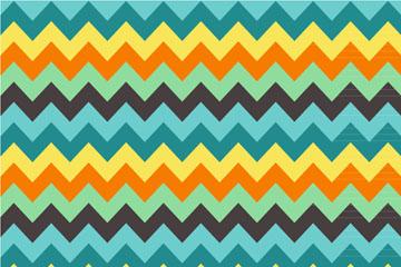 彩色曲折线背景矢量素材