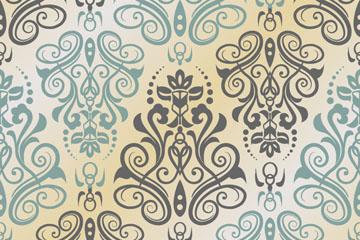 复古欧式花纹背景矢量素材