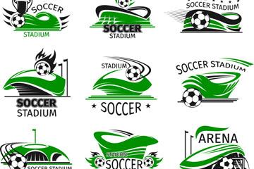 16款创意绿色足球场标志矢量素材