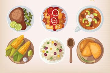 9款卡通食物设计矢量素材