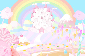 卡通童�糖果城堡矢量素材