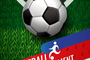 创意足球锦标赛海报矢量素材