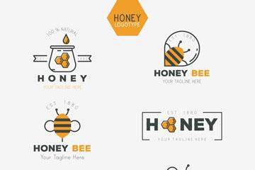 6款创意蜂蜜标志矢量素材