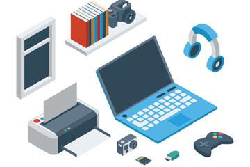 8款创意立体电子产品矢量素材