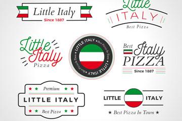 7款创意意大利披萨标志矢量图