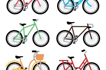 6款彩色时尚单车设计矢量素材