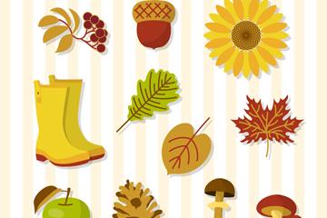11款创意秋季元素矢量素材
