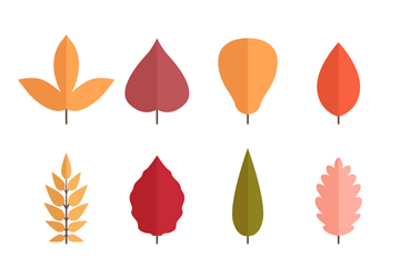 12款扁平化树叶设计矢量素材
