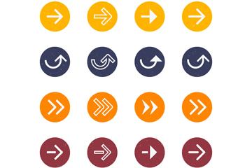 16款圆形箭头图标设计矢量素材