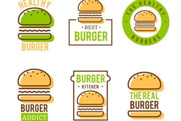 6款绿色汉堡包店标志乐虎国际线上娱乐乐虎国际