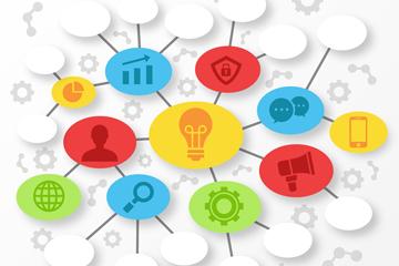 创意商务思维导图设计矢量素材